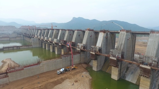 The construction of the Polavaram dam across the Godavari river has posed a big threat to the Pulasa fish, as its movement to the upstream of the river could be curtailed. (HT PHOTO).