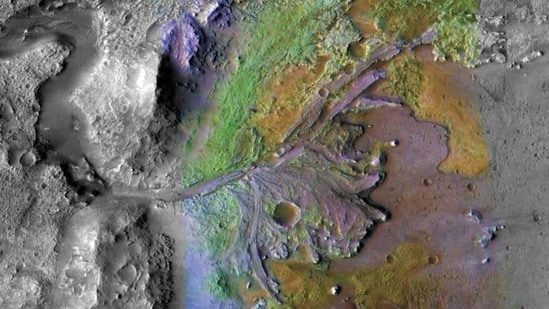 Nasa has chosen Jezero Crater, a geologically rich terrain, as the landing site for its Mars 2020 rover mission.(Twitter / @NASA)