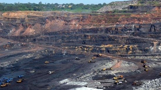 A view of an open cast coal mine. (Representational image/HT PHOTO)