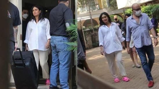 Kareena Kapoor spotted in Mumbai on Saturday.