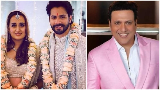 Govinda has shared his blessings for Varun Dhawan and Natasha Dalal.