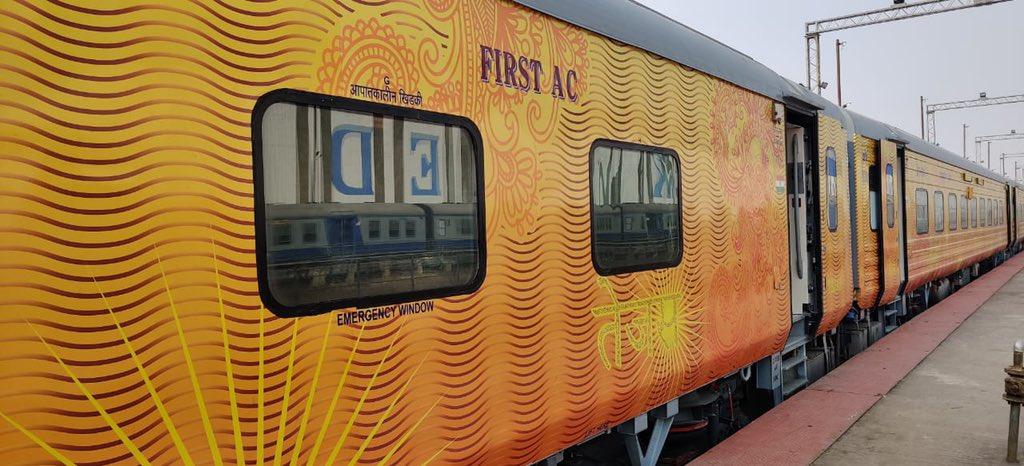 Tejas Sleeper type train.(Twitter/@RailMinIndia)