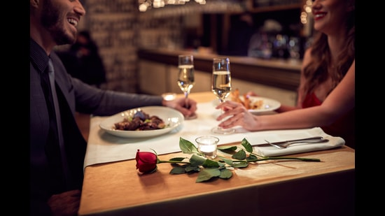 Restaurants, too, are going the extra mile to provide safe celebration experience in the comfort of one's own home — from personalised, elaborate meal spreads prepared by chefs to choosing five-senses holistic meals, and special crockery to add to V-Day feels (Photo: Shutterstock)