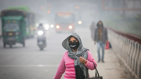 Greater Noida, which was also among the three top polluted cities, registered an AQI of 402 ('severe'). The three cities on Sunday were the only ones among the 126 cities on the CPCB bulletin to record AQI under 'severe' category, CPCB said.(Sanchit Khanna / HT Photo)