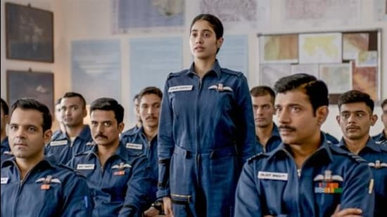 A still from the movie 'Gunjan Saxena: The Kargil Girl' which was released on Netflix. The Indian Air Force (IAF) had written a letter to the Censor Board objecting to its 'undue negative' portrayal in the movie. (PTI (FOR REPRESENTATIONAL PURPOSE ONLY))