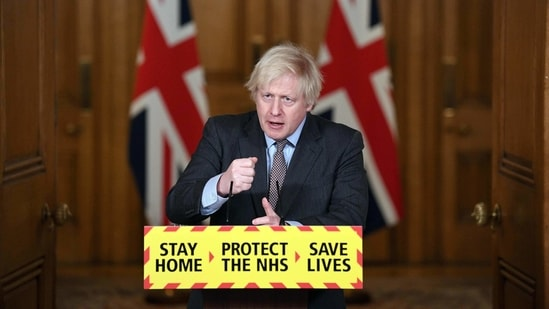 Britain's Prime Minister Boris Johnson said it's vital to get to bottom of how the pandemic originated.(AFP)