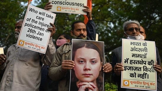 Swedish climate activist Greta Thunberg had tweeted a 'toolkit' for farmers protest, leading to allegations of a well-coordinated conspiracy against India.(AFP)