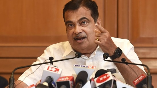 Union Minister for Road Transport & Highways and Micro, Small and Medium Enterprises Nitin Gadkari interacts with media. (PTI File Photo)