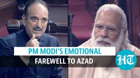 PM Narendra Modi was emotional while giving a farewell to Ghulam Nabi Azad from Rajya Sabha.