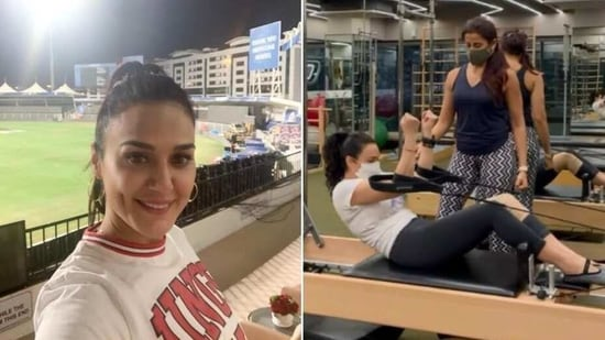 Preity Zinta is excited to be back in the gym after forever, posts Pilates video - Hindustan Times