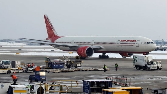 FILE PHOTO: An Air India Boeing 777-300ER plane taxis at O'Hare International Airport in Chicago, Illinois, U.S. November 30, 2018. REUTERS/Kamil Krzaczynski/File Photo(REUTERS)