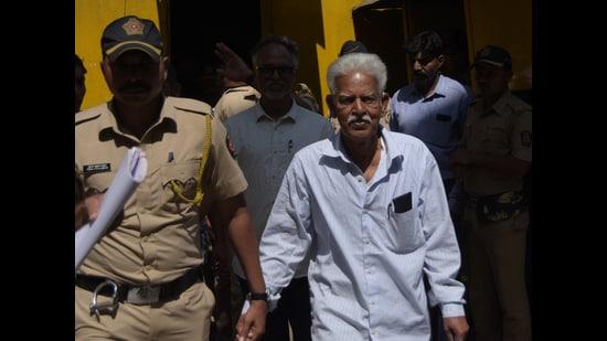 Varavara Rao, accused related in Elgar Parishad, Bhima Koregaon case, Mumbai, Friday 28 February, 2020 (HT PHOTO)