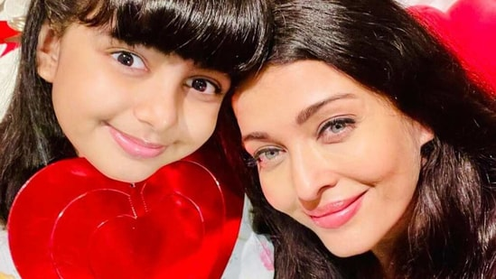 Aaradhya Bachchan and Aishwarya Rai celebrated Valentine's Day with a selfie.