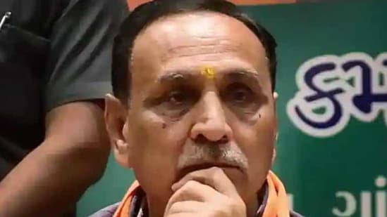 Chief minister Vijay Rupani has tested positive for the coronavirus disease. (PTI file)