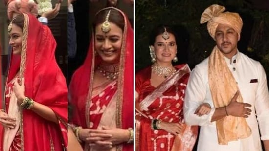 Dia Mirza at her wedding(Instagram/viralbhayani)