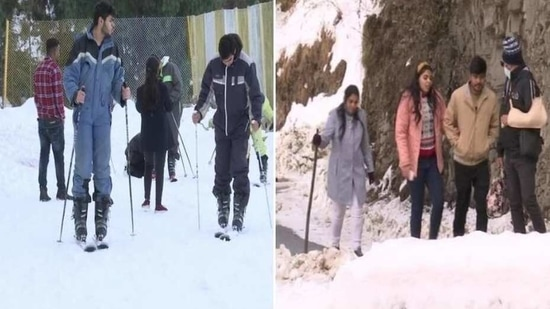 Snow-capped hills, adventure sports attract tourists to Himachal's Kufri(ANI)