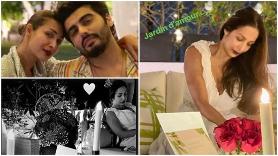 Malaika Arora and Arjun Kapoor had a romantic dinner on Valentine's Day.