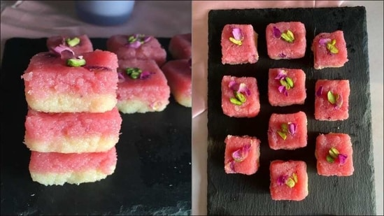 Recipe for Vasant Panchami 2021: Welcome Spring with rose and coconut burfi(Instagram/cooking_god_es)