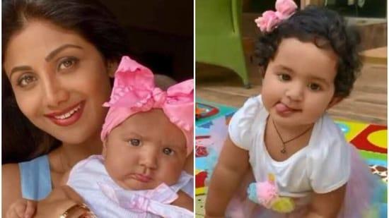 Shilpa Shetty's daughter Samisha turned one on Monday.