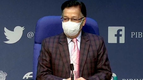 Authorities have carried out contact tracing for the five people, and no other person is found to have contracted the new variants till now, Union health secretary Rajesh Bhushan said at the weekly government briefing on Covid-19.(ANI)