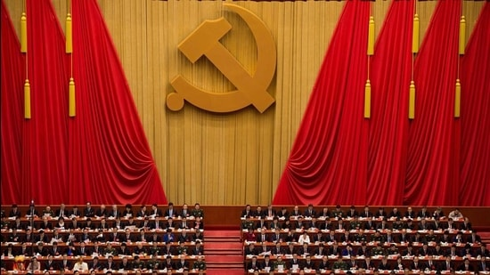 """The CCP's version of history draws upon the narrative of the century of humiliation to then present a neat classification of periods within which China has """"stood up, grown rich, and is becoming strong"""" under CCP rule. (AFP)"""