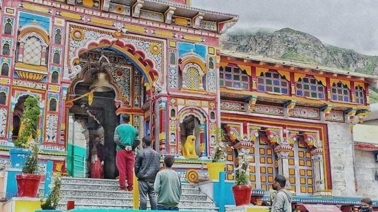 The Badrinath shrine in Uttarakhand.(HT PHOTO)