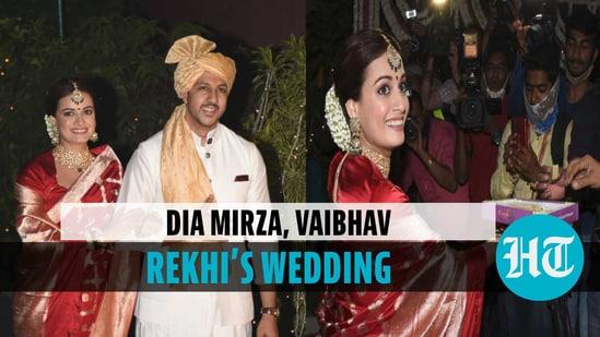 Dia Mirza & Vaibhav Rekhi got married at her home in Mumbai on Feb 15