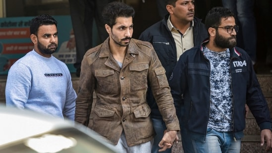Actor Deep Sidhu, accused in the violence on Republic Day during a farmers' tractor rally, arrested by Delhi Police. (PTI Photo)
