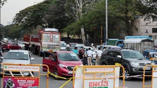 Bengaluru has over 9.4 million vehicles and traffic snarls are attributed to inadequate infrastructure, poor quality of roads and Metro construction, etc. (File photo)