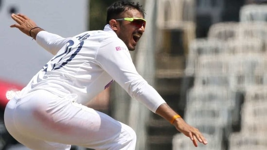 Axar Patel appeals successfully against Rory Burns. (BCCI)