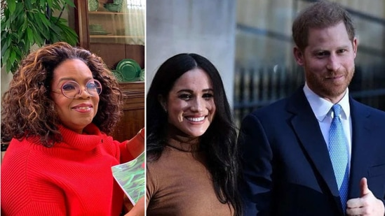 Oprah Winfrey , Meghan Markle and Prince Harry.(Instagram)