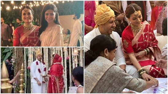 Inside pics from Dia Mirzas wedding: From varmala ceremony to signing marriage documents - Hindustan Times