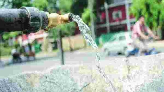 Noida needs around 330-million-litre water supply — 240-million-litre from the Ganga, and the remaining is groundwater.(Representative photo)