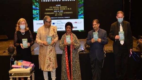 Sabarna Roy, author of six critically acclaimed books,unveiled his seventh book, Fractured Mosaic.(ANI)