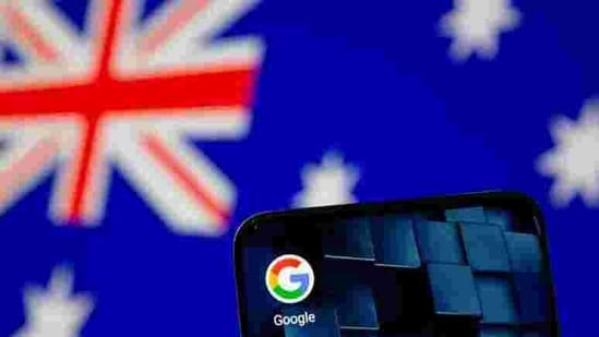 FILE PHOTO: Smartphone with Google app icon is seen in front of the Australian flag in this illustration taken January 22, 2021. REUTERS/Dado Ruvic/Illustration/File Photo(REUTERS)