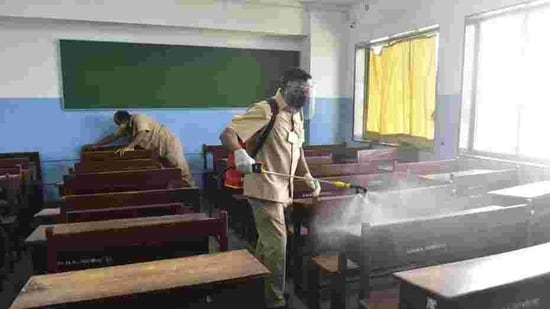 Some schools in Maharashtra and schools under consulates and embassies in Mumbai have been allowed to reopen since January 18. (Anshuman Poyrekar/HT PHOTO)