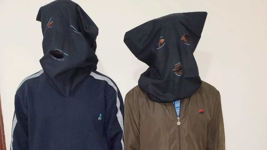 Lucknow: Uttar Pradesh Police's Special Task Force (STF) arrested two alleged members of the Popular Front of India (PFI), who were allegedly planning to carry out multiple blasts across India on the occasion of Vasant Panchami, in Lucknow, Tuesday, Feb. 16, 2021. (PTI Photo)(PTI02_16_2021_000257A)(PTI)