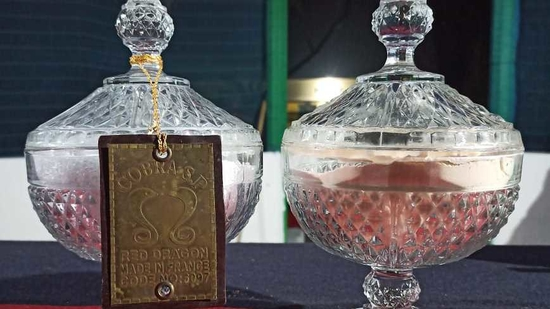 The BSF team carefully searched the entire area and found the package which when opened revealed two jars containing a powdery and crystalline substance –weighing 4 lbs. (PHOTO: BSF)