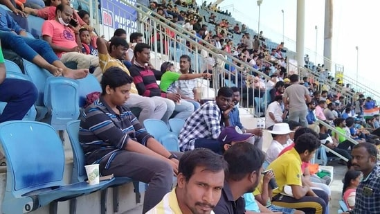 International cricket returned to India after nearly a year and the crowd at Chepauk made sure they witnessed every bit of it.(HT)
