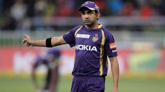 Gautam Gambhir during the 2012 IPL. (Getty Images)