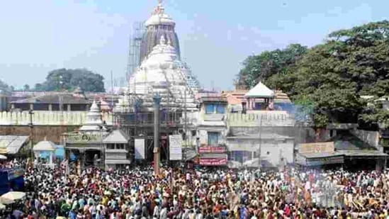 Devotees gather at Lord Jagannath temple in Puri.(PTI File Photo)