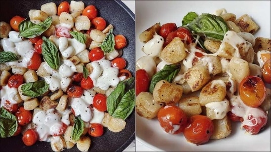 Recipe: Indulge in this cheesy, dreamy One Pan Caprese Gnocchi this Wednesday(Instagram/hungry.blonde)