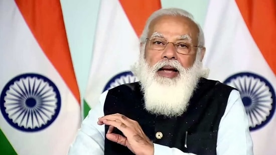 PM Modi highlighted two of his government's flagship health schemes - Ayushman Bharat and Jan Arogya - as useful case studies for other countries. (ANI Photo)