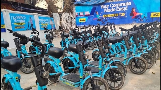 The 30-minute e-bike journey from Kurla railway station to BKC will cost <span class='webrupee'>₹</span>25.