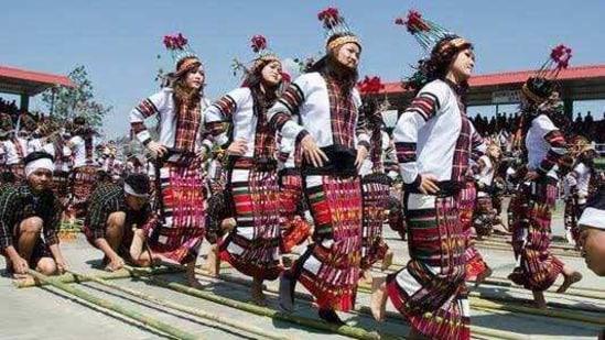 Arunachal Pradesh celebrates Statehood Day on February 20. In picture - Statehood day celebrations in 2020.(Twitter/@PemaKhanduBJP)