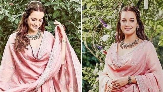 Newly wed Dia Mirza in anarkali suit (Instagram/ anitadongre)