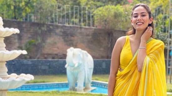 Mira Rajput looks radiant in yellow saree(Instagram/ delnanallaseth)