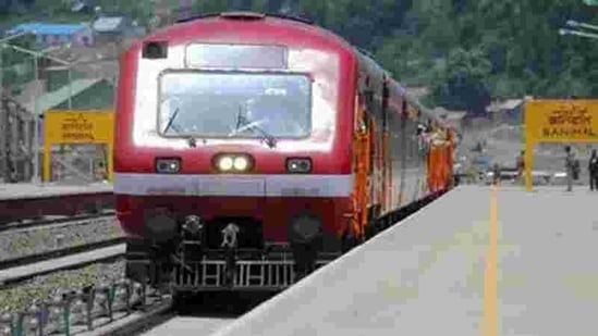 The rail service resumed from Budgam to Srinagar Railway stations after completion of necessary restoration work on damaged infrastructure and tracks.(Agencies File Photo)