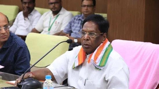 Puducherry chief minister V Narayanasamy.(Photo: ANI)