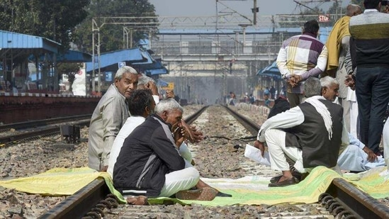Image result for Rail Roko: Uttarakhand farmers stage protests in Haridwar and US Nagar